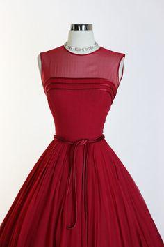Vintage 1950s 50s Elegant Vixen Illusion by RedHouseVintages
