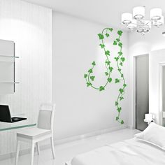 Ivy VInes Wall Decal -  Vinyl Wall Art Decal Sticker   Looks amazing in a solid white room...