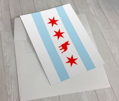 Greeting Card - French Bulldog Greeting Card - Chicago Flag Greeting Card - Chicago Flag Frenchie Greeting Card - box of greeting cards by sophisticatedpup on Etsy