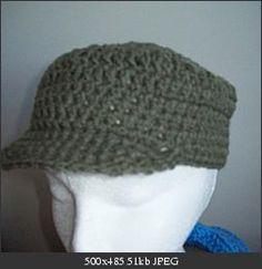 Free Crochet billed hat pattern