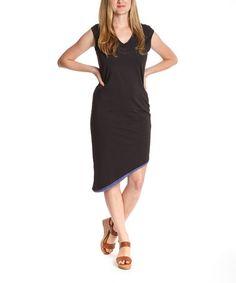 Loving this Black & Cornflower Nomad Organic Dress - Women on #zulily! #zulilyfinds