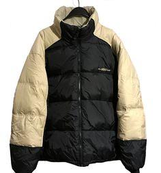 Vintage 90s Helly Hansen Hip Hop Urban Street Style Goose Down Puffer Jacket Beige/Black Size XL by VapeoVintage on Etsy