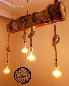 Home & house design, likable rustic lighting fixtures such as 50 ideas for rustic light Cafe Design, House Design, Diy Casa, Creation Deco, Wooden Lamp, Wooden Diy, Rustic Lighting, Cafe Lighting, Rustic Furniture