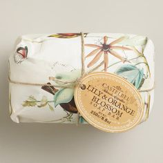 Would love to be pampered with this in my master bath! One of my favorite discoveries at WorldMarket.com: Castelbel Lily and Orange Blossom Bar Soap