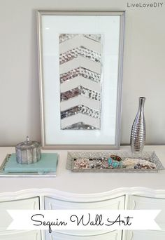 DIY Sequin Wall Art (I die!!) via Live Love DIY
