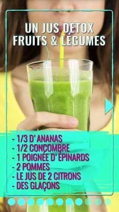 Jus detox fruits et légumes