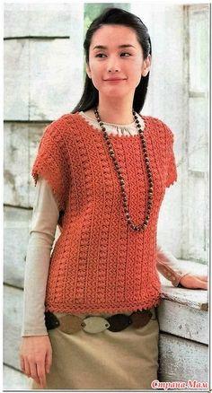 Jumper model convexe pe verticală. Cârlig. - Moda Materiale tricotate + NEMODELNYH PENTRU LADIES - Țara Mamă