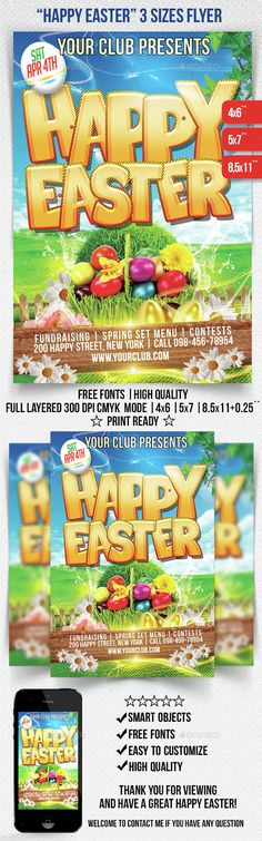 Easter Flyer Template - Party Flyer Templates For Clubs Business - easter flyer template