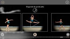 Ballet App navigation mode #2 : a merry-go-round of videos sequenced in the order of a real-life ballet lesson -- Mode de navigation de notre appli ballet #2: carrousel rassemblant les vidéos des mouvements dans l'ordre d'un cours de danse comme voici.