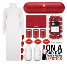 """""""Red lipstick"""" by yahav8-2002 ❤ liked on Polyvore featuring beauty, MaxMara, Beats by Dr. Dre, Fendi, Manic Panic NYC, adidas Originals and Lipstick Queen"""