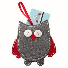Owl gift card holder.