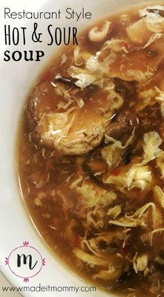 Restaurant Style Hot and Sour Soup