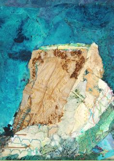 'Wave Sculpture' Detail, Rosie Britton, Mixed media collage Mixed Media Collage, Painting & Drawing, Waves, Sculpture, Detail, Drawings, Artist, Artists, Sculptures