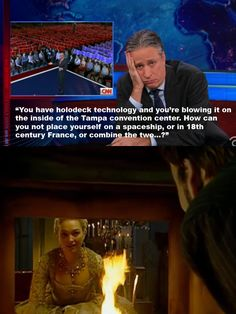 That Time Jon Stewart referenced 'Doctor Who: The Girl in the Fireplace'. Two of my favorite shows, and potentially my favorite episode of anything ever. Doctor Who, Reasons I Love You, Jon Stewart, Don't Blink, Torchwood, Geek Out, Dr Who, Superwholock, Tardis
