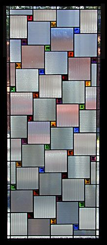 Daniel Maher Stained Glass - Saturn Asset Management - nice for large but simple privacy window