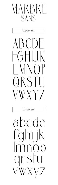 This is a really stylish font that I think could be really nice for a title especially. Found by: Marbre Sans free font by Youssef Habchi, via Behance Hand Lettering Fonts, Calligraphy Fonts, Typography Letters, Graphic Design Typography, Lettering Design, Font Alphabet, Logos Online, Typographie Fonts, Typographie Inspiration