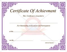 Download free or premium version no registrations instant download achievement certificate free printable yadclub Gallery