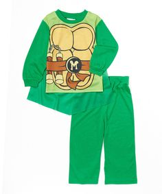 Look what I found on #zulily! Green TMNT Cape Pajama - Toddler by Teenage Mutant Ninja Turtles #zulilyfinds