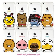 KAKAO FRIENDS Cell Phone Jelly Case Cover Protector for Apple iPhone 6/6S/Plus #KAKAOFRIENDS