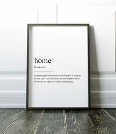 Home Definition Print, Wall Art Prints, Quote Print, Wall Decor, Minimalist Poster, Minimalist Print, Modern Art, Family Print, Definition by NordicDesignHouse on Etsy https://www.etsy.com/listing/462943598/home-definition-print-wall-art-prints