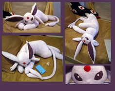 I want one! Life Size Espeon Plush by ~Sareii on deviantART Pokemon Craft, Pokemon Toy, Fun Crafts, Diy And Crafts, Sewing Crafts, Sewing Projects, Plushie Patterns, Softie Pattern, Lugia