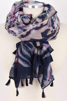 Color Splash Tassel Oblong Scarf – Bag Brag Co.