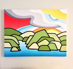 Leanne Spanza — colourful, happy art inspired by British Columbia's lakes, mountains, valleys and coastlines.