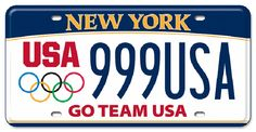 DMV Encourages New Yorkers to Show Their Pride in Team U.A with an Olympic Spirit License Plate Us Olympics, Summer Olympics, Family Chiropractic, Personalized Plates, Custom Plates, Team Usa, Training Center, Olympic Games, License Plates