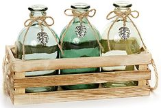 Deko Küche, Haushalt & Wohnen, Möbel & Wohnaccessoires, Wohnaccessoires & Deko, Vasen Jute, Wicker Baskets, Bottle, Home Decor, Decorating Bottles, Vase Of Flowers, Wooden Crates, Home Decor Accessories, Household