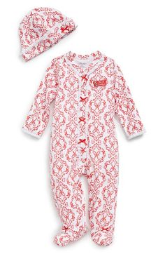 Little+Me+'My+First+Christmas'+One-Piece+&+Hat+(Baby+Girls)+available+at+#Nordstrom