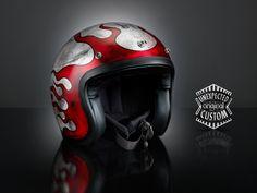 airbrushed custom helmet Rusted Flames