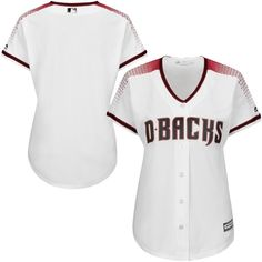 f2271f7f Arizona Diamondbacks Majestic Women's Cool Base Jersey - White - Baseball  Scoreboard, Baseball Jerseys,