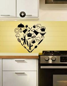 Heart kitchen! For those whose heart lies in the kitchen! :)    This unique easy-to-apply wall sticker is available on http://www.gloob.in/heart-kitchen.html#    To check out more amazing products from Gloob, visit www.gloob.in    Get discounts and fab deals on www.facebook.com/iamgloob