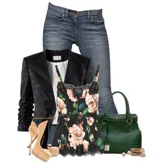 Untitled #1262 by autumnsbaby on Polyvore featuring Dolce&Gabbana, H&M, J Brand, Gabor, Forever 21, Juliet & Company, Chaumet and Yves Saint Laurent
