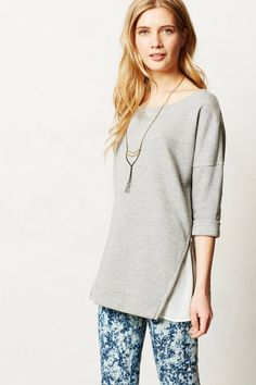 f8689d1e1157 Anthropologie Sebec Tunic Size S, Gray French Terry Top By Saturday/Sunday # SaturdaySunday