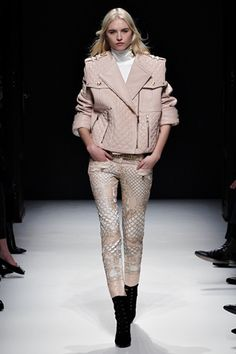 Balmain....boxy cuts are in this Fall but I still don't know how I feel about them. However I like the details of this jacket