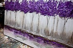 Purple tree painting, so cute! modern artwork thumbnail