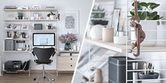 Tour A Blogger's Timeless And Tidy Home Office - ELLEDecor.com