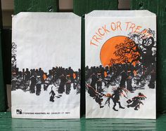 Vintage Paper Trick or Treat Bags