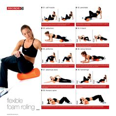 workout Connect the Dots Ginger: Running Tips and Tricks: Aches Foam Roller Stretches, Roller Workout, Pilates Roller, Preparation Physique, Lower Back Exercises, Foam Rolling, Calf Muscles, Pilates Reformer, Pilates Yoga