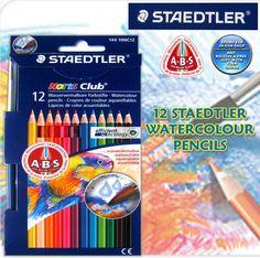 STAEDTLER NORIS CLUB WATERCOLOUR PENCILS / ART / ARTIST / SKETCHING / DRAWING. | eBay