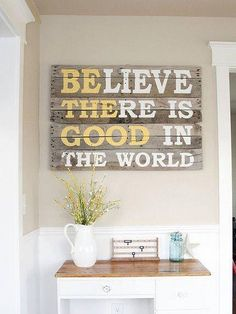Be The Good.. I think I wanna do my laundry room in yellow and gray :-)