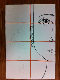 Mrs. Kearly's class Mrs. Mrs. Savoie's 5th grade class How to Begin... Divide paper into 6 by folding... Draw face lightly to below p...