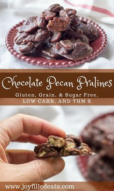 I can never decide if I prefer regular or chocolate pecan pralines so I like to make both! These are really easy to make, low carb, sugar free, & THM S. via @joyfilledeats