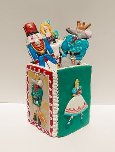 Nutcracker cookie box and cookies.