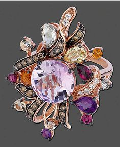 Le Vian 14k Rose Gold Ring, Multistone (6-1/5 ct. t.w.) - FINE JEWELRY - Jewelry & Watches - Macy's