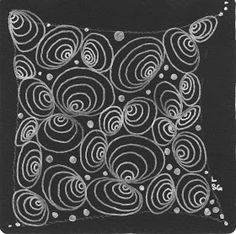 WattaTangledWeb....: Eccentric Circles by Lesley S-G, Certified Zentangle Teacher