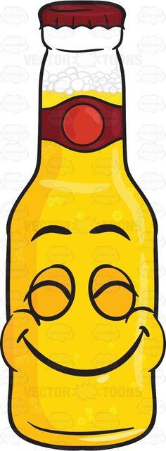 Happy Bottle Of Beer With Satisfied Look On Face Emoji #adultdrink #beer #beerbelowzero #beerbottle #beercap #beverage #booze #boozing #bottle #brew #brewage #cap #closedeyes #coldbeer #drink #drinkable #drinking #drunkenness #eyesshut #food #grin #happy #liquor #malt #satisfied #smiling #smilingwide #sohappy #veryhappy #vector #clipart #stock