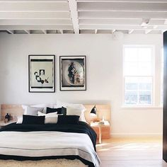 """One Kings Lane auf Instagram: """"Dreaming of minimal, sun-drenched bedrooms with piles of monochromatic pillows.  [ by @csanyi via our #myoklstyle feed] #regram"""""""
