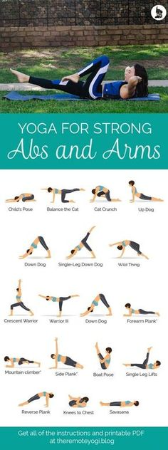 Yoga for Strong Abs & Arms - Free Printable PDF Check more at yoga. Informations About Yoga for Strong Abs & Arms - Free Printable PDF Yoga Fitness, Shape Fitness, Health Fitness, Fitness Style, Workout Bauch, Pilates Training, Training Workouts, Body Training, Cross Training